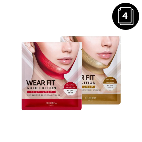 CELDERMA daily Wear Fit Gold Edition Mask