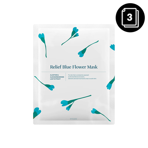 HYGGEE Relief Blue Flower Mask