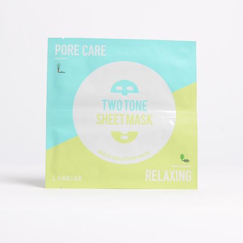LANEIGE Two Tone Sheet Mask Porecare & Relaxing