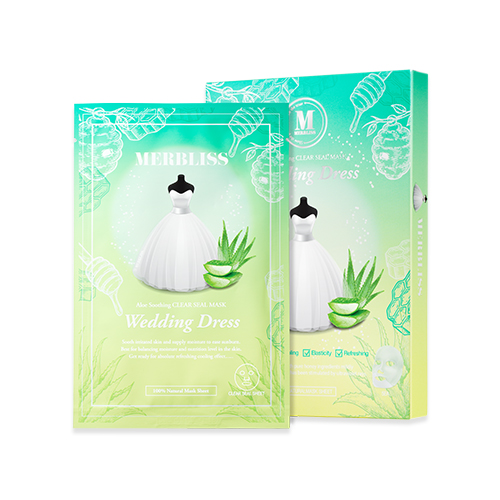 MERBLISS Wedding Dress Aloe Honey Soothing Clear Seal Mask
