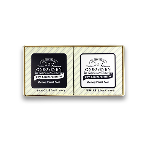ONEOSEVEN Premium Black & White Soap SET