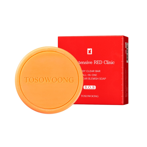 TOSOWOONG SOS Intensive Red Clinic Body Clear Bar(Soap)