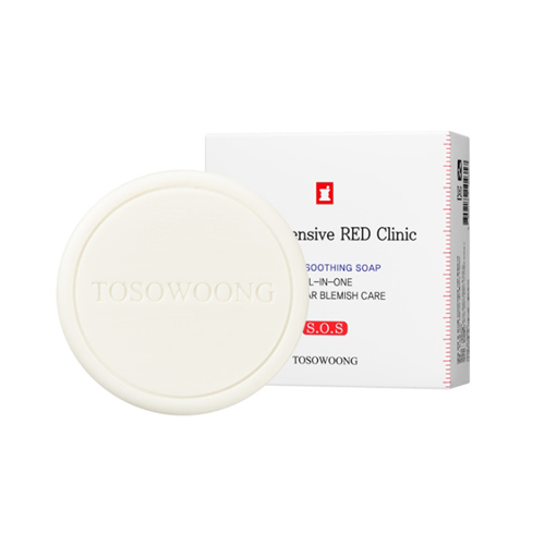 TOSOWOONG SOS Intensive Red Clinic Facial Soothing Soap