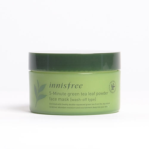 innisfree 5-Minute Green Tea Leaf Powder Face Mask [Wash-Off Type]