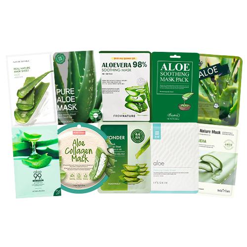 Mask Sheet Trial Kit (Aloe)