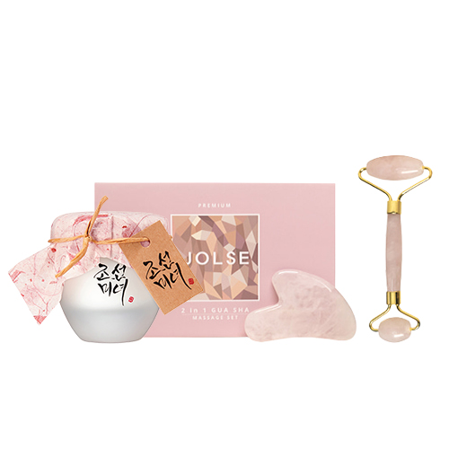 JOLSE Premium 2 in 1 Gua Sha Massage Set + Beauty of Joseon Dynasty Cream
