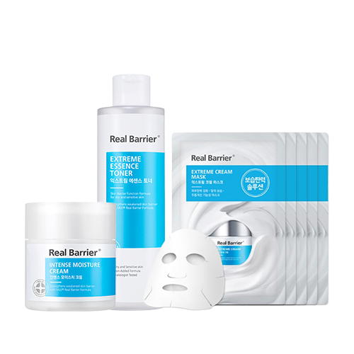 Real Barrier Intense Moisture Cream + Essence Toner + Cream Mask
