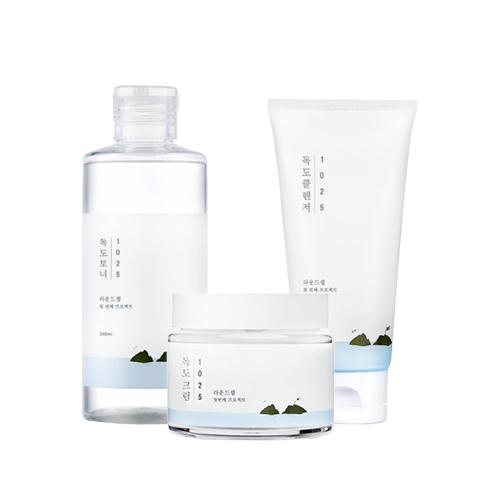 Round Lab 1025 Dokdo Toner + Cleanser + Cream