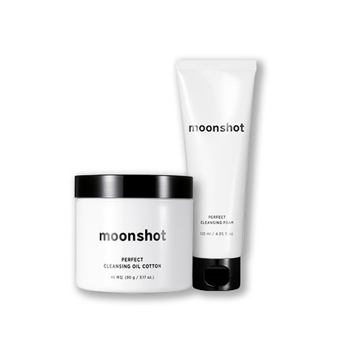 moonshot Perfect Cleansing Foam Cleansing Oil Cotton