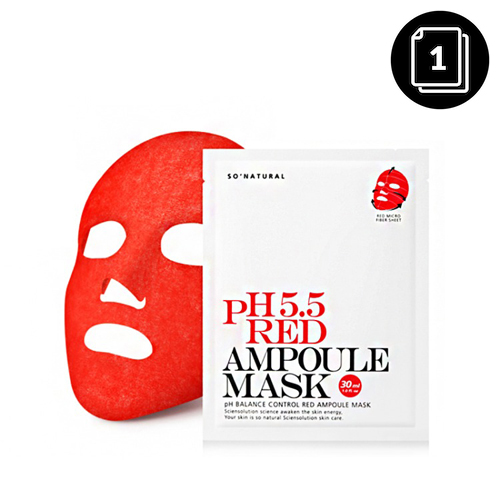 so natural pH 5.5 Red Ampoule Mask